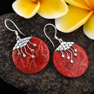 🆕 Sponge Coral Sterling Silver Earrings